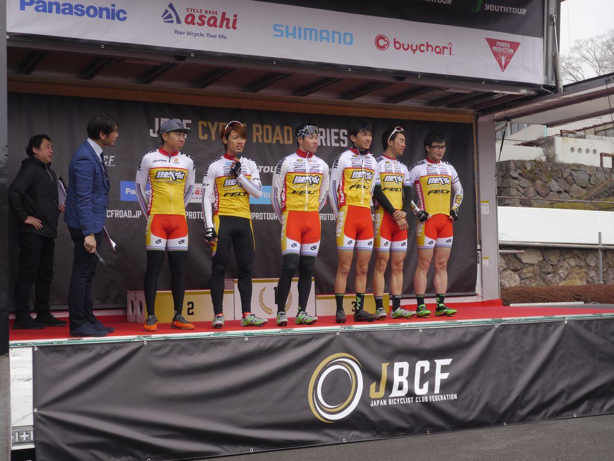 弱虫ペダル サイクリングチームは若手選手が揃います。チームジャージが色鮮やか!